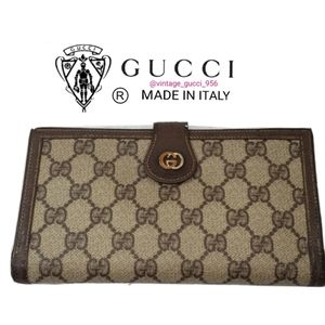 Gucci trifold vintage wallet